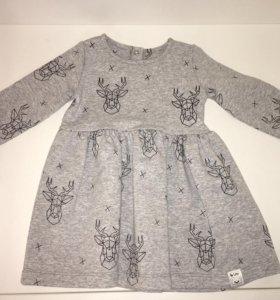 Новое платье на девочку 74рр