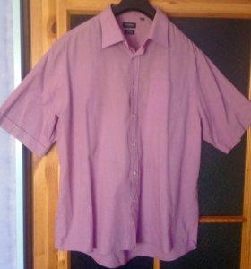Рубашка мужская летняя с коротким рукавом.