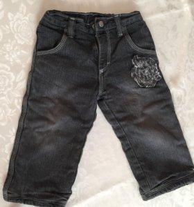 Утеплённые джинсы на мальчика рост 86