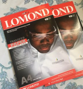 Бумага для термопереноса 2 пачки А4 Lomond