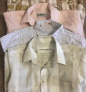Рубашки на мальчика 4 шт за 1000₽