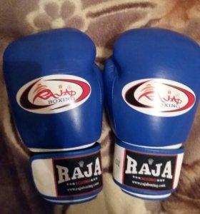 Новые перчатки Raja синие 12 унций