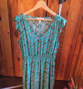 Платье женское голубое, хлопок