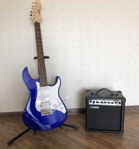 Комплект Yamaha: электрогитара с комбиком и чехол