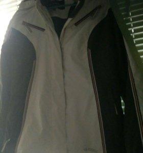 Горнолыжный костюм,разм42-44, бело-серый