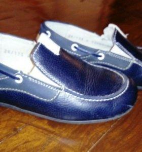 Мокасины кожаные, лёгкие кроссовки