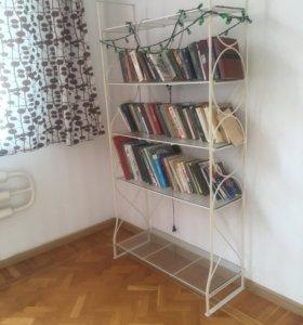полка стеклянная для книг бу