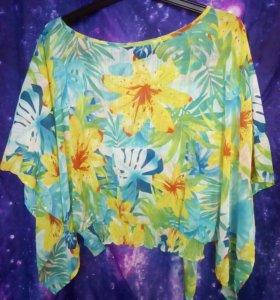 Блузка OGGI летняя полупрозрачная