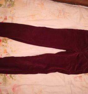 Вельветовые брюки на завышенной талии
