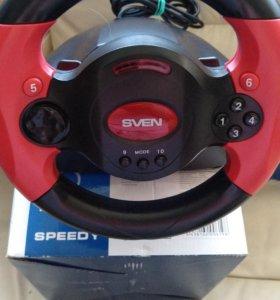 Игровой манипулятор/руль с педалями Sven