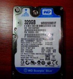 Western Digital WD Scorpio Blue 320 GB WD3200BEVT
