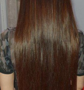 наращие волос,окрашивание на дому.