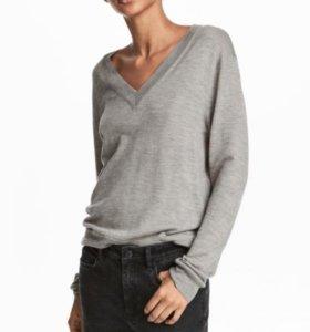 Джемпер H&M из мериносовой шерсти цвет черный