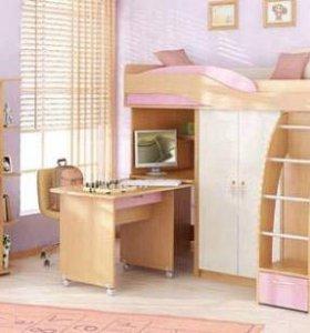 Детская спальня-кровать-чердак