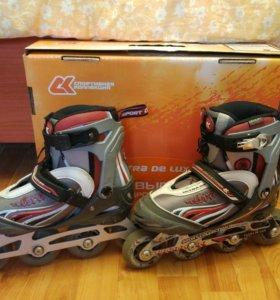 Роликовые коньки СК Ultra De Luxe + шлем