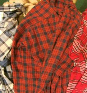 Рубашки всякие, клечатые