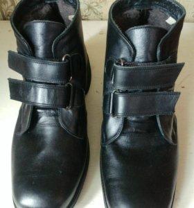 Новые ботинки натуральная кожа, мех