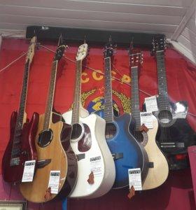 Гитары акустические и электро