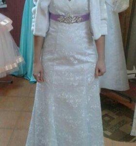 свадебное строгое платье