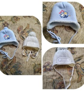 Зимние шапочки на мальчика