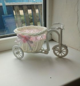 Велосипед ротанг ваза