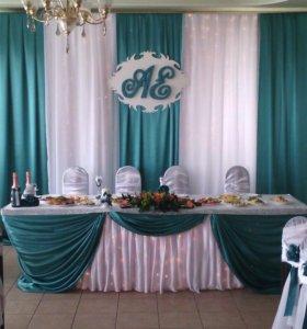 Украшение свадебного зала и машины