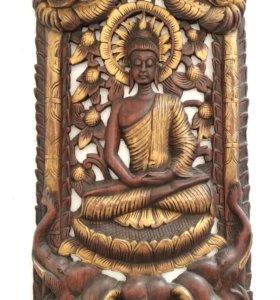 Панно Будда на слонах