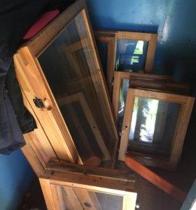 Деревянные окна с дома