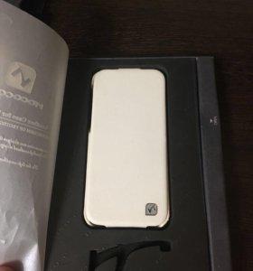 Кожаный чехол Hoco для iphon 5, 5s,SE