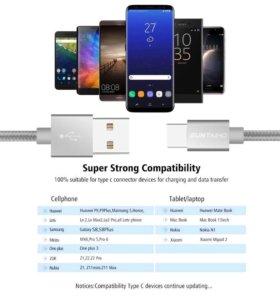 Кабель для зарядки usb type-c. Samsung galaxy s8