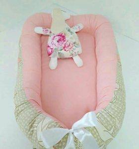 Матрасик кокон гнёздышко для малыша