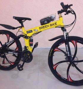 Велосипед: Green Bike на литых дисках