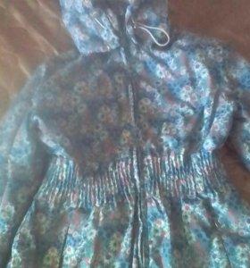Куртка весна осень на девочку 6-7 лет