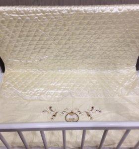 Кроватка детская(матрас новый)