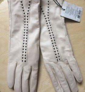 Перчатки кожаные новые 7,5