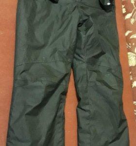 зимние штаны с подтяжками (отстегиваются) S размер
