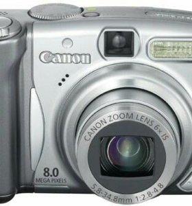 Цифровой фотоаппарат Canon PowerShot A720 IS