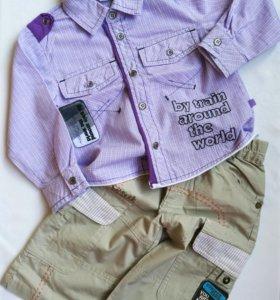 Рубашка и бриджи лето размер 1-1,5 года