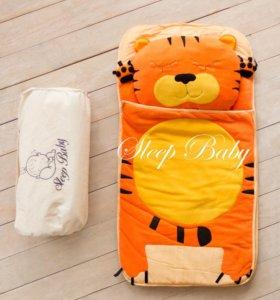 Детские слипики-спальные мешки -Оранжевый Тигр