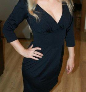 Платье тёмно-синее, размер S