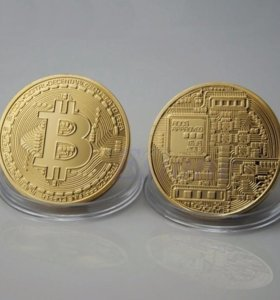 Bitcoin сувенир монета