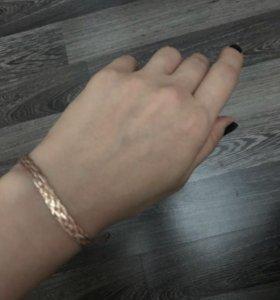 Комплект - цепочка и браслет золотые
