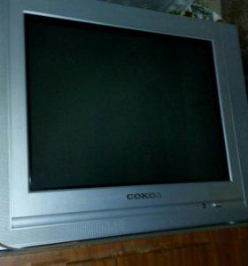 Нерабочий телевизор Сокол с ПУ