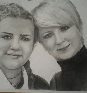 Рисую портреты по фото (карандаш, масло)🎨✏✒.