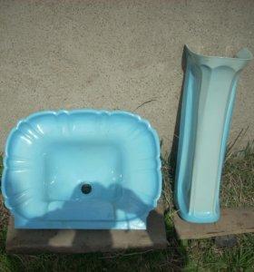 Раковина с пьедесталом для ванны