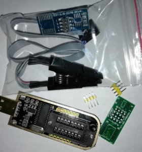 USB Программатор CH341A flash и eeprom + Прищепка