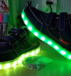 Кросовки светящиеся детские