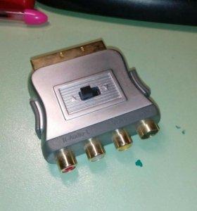 Переходник (конвертер)RSA/sVHS в SCART и наоборот