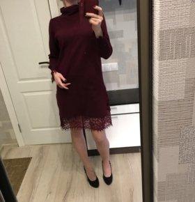 Новое платье винного цвета