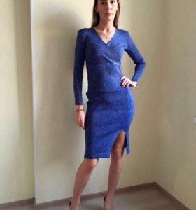 Платье лапша с люрексом новое
